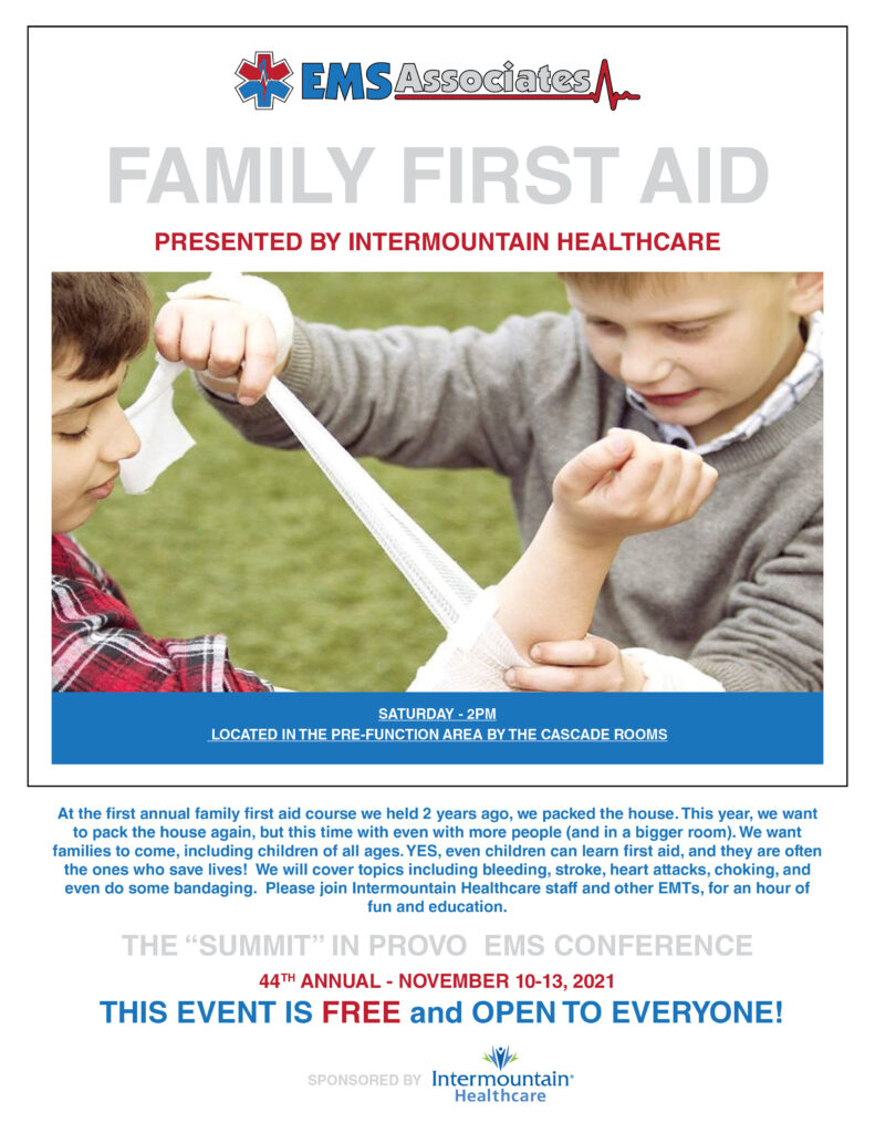 The Summit in Provo Family First Aid Day Poster